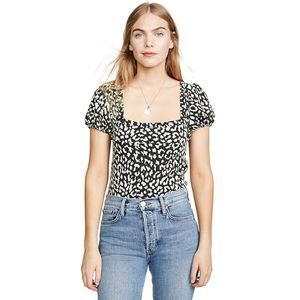 FREE PEOPLE no type leopard print t-shirt XS